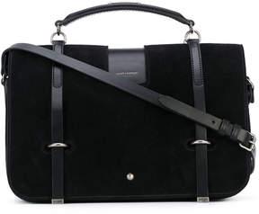 Saint Laurent buckle strap satchel - BLACK - STYLE