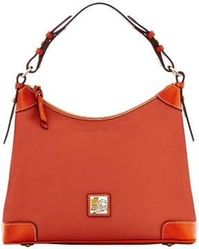 Dooney & Bourke Pebble Grain Hobo Shoulder Bag - BURNT ORANGE - STYLE