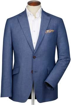 Charles Tyrwhitt Slim Fit Light Blue Italian Wool Wool Blazer Size 44