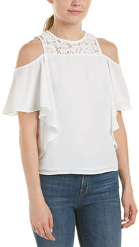 Do & Be DO+BE Do + Be Cold-Shoulder Lace Back Top