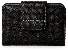 adrienne vittadini Black Basket-Weave French Purse