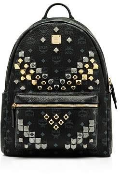 MCM Visetos Stark M Stud Backpack