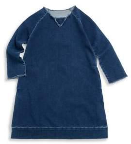 Nununu Little Girl's Raglan Denim Dress