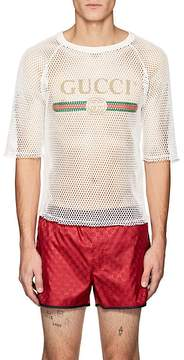 Gucci Men's Logo Mesh T-Shirt