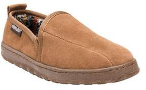 Muk Luks Men's Double Gore Printed Berber Suede Slip On.
