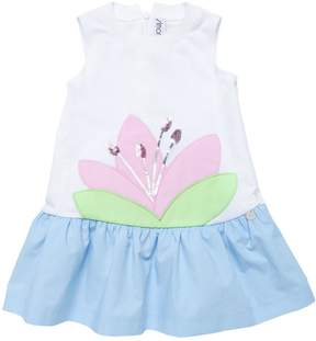Simonetta Cotton Jersey & Poplin Dress