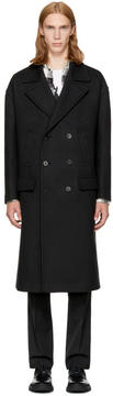 Neil Barrett Black Wool Double-Breasted Coat