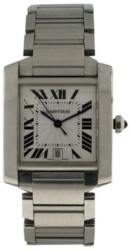 Cartier Tank Francaise Stainless Steel Automatic with Date 32mm Watch