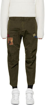 DSQUARED2 Green Skipper Chino Trousers