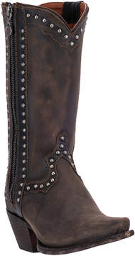 Dan Post Chocolate Studded Heatwave Leather Cowboy Boot - Women