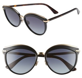 Christian Dior Women's Offset 2 55Mm Sunglasses - Black/ Havana