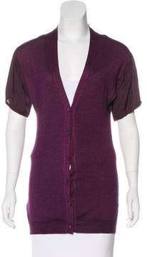 Prada Wool Short Sleeve Cardigan