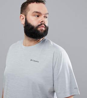 Columbia Plus Size Zero Rules Technical Logo T-Shirt in Gray