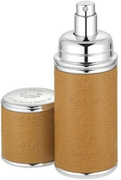 Creed Refillable Leather & Silvertone Trim Pocket Atomizer/Camel