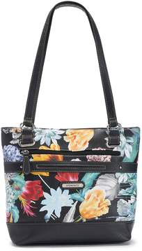 Co Stone & Floral Pebbled Leather Tote