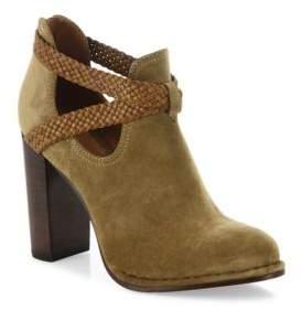 Frye Margaret Braid Suede & Leather Booties
