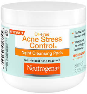Neutrogena Oil-Free Acne Stress Control Night Cleaning Pads