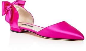 Sarah Jessica Parker Awaken Satin d'Orsay Pointed Toe Flats - 100% Exclusive