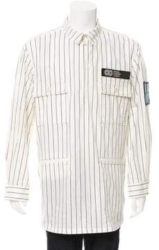 Opening Ceremony Pinstripe Pullover Jacket