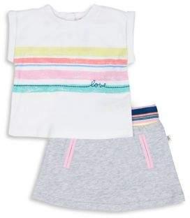 ED Ellen Degeneres Baby Girl's Two-Piece Striped Top and Skirt Set