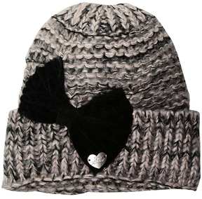 Betsey Johnson Bowmg Cuff Hat Beanies