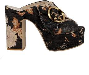 Elena Iachi Grafite Fabric Sandals