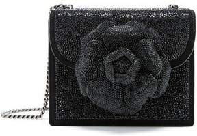 Oscar de la Renta Black Swarovski Mini TRO Bag