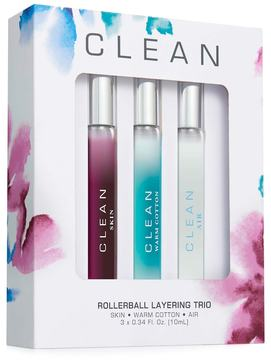 Clean Women's Perfume Rollerball Gift Set