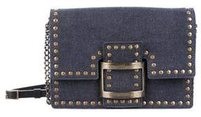 Roger Vivier Studded Denim Bag