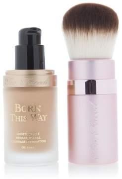 Too Faced Born This Way Foundation & Kabuki Brush - Sand