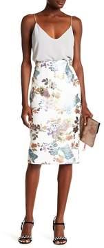 ECI Floral Pencil Skirt