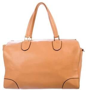Valextra Leather Milano Satchel