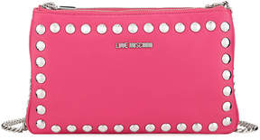 Love Moschino Studded Faux-Leather Wallet On A Chain, Pink
