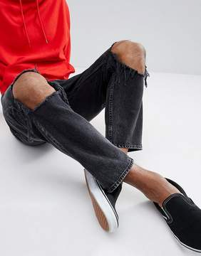 Cheap Monday In Law Tapered Jeans with Blown Out Knee