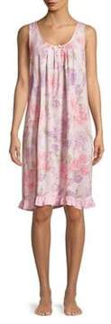 Miss Elaine Floral Sleeveless Nightgown
