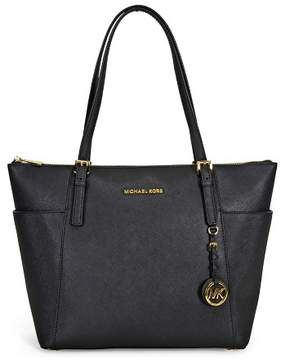 Michael Kors MICHAEL Jet Set Large Top-Zip Tote - BLACK / GOLD - STYLE
