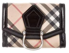 Burberry House Check Leather-Trimmed Wallet