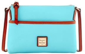 Dooney & Bourke Pebble Grain Ginger Pouchette Shoulder Bag - LIGHT BLUE - STYLE