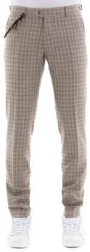 Berwich Men's Beige Wool Pants.
