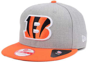 New Era Cincinnati Bengals Heather 2-Tone 9FIFTY Snapback Cap