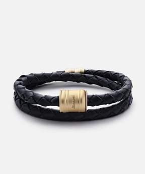 Miansai Leather Matte Gold Casing Bracelet