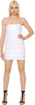 Alexandre Vauthier Belts Embellished Denim Bustier Dress