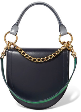 Sacai - Horseshoe Leather Shoulder Bag - Navy