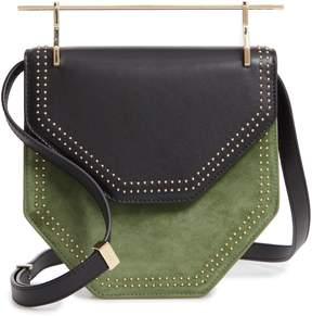 M2Malletier Mini Amor Fati Leather & Velvet Shoulder Bag