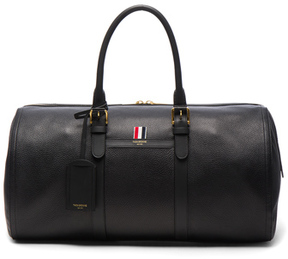 Thom Browne Deerskin Duffle Bag in Black.