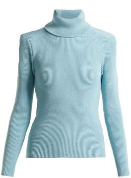 Balenciaga Exposed-back roll-neck sweater