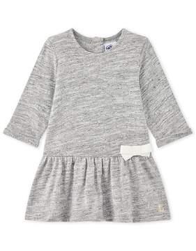 Petit Bateau Baby girl's marl dress