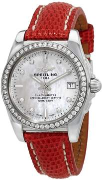 Breitling Galactic Mother of Pearl Diamond Dial Ladies Watch