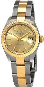 Rolex Datejust Automatic Champagne Dial Ladies Steel and 18kt Yellow Gold Oyster Watch