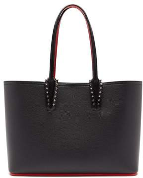 Christian Louboutin Cabata Small Spike Embellished Leather Tote - Womens - Black